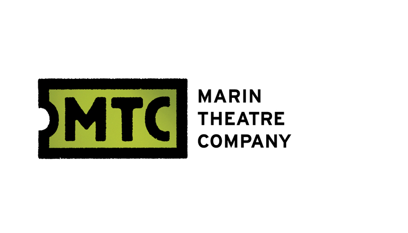 <strong style='color:black;font-style:normal;'>Marin Theatre Company</strong><div style='margin-top:.5em;'><em>The logomark for Marin Theatre Company references classic typography from theater playbills in the 1800's. The ticket shape pays homage to the ticket stubs used in the past eras, re-enforcing the idea of theater. Slightly rough hewn edges mimic the silkscreened feel from the classic playbills and at the same time emulates a craftperson's handiwork, giving the logomark more of an individual and creative persona.</em></div>