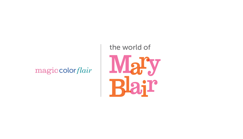 <strong style='color:black; font-style:normal;'>The Walt Disney<br />Family Museum</strong><br /><span style='color:black; font-style:normal;'>Mary Blair Exhibition Logo</span><div style='margin-top:.5em;'><em>This is a second proposed logo for the same exhibition.</em></div>