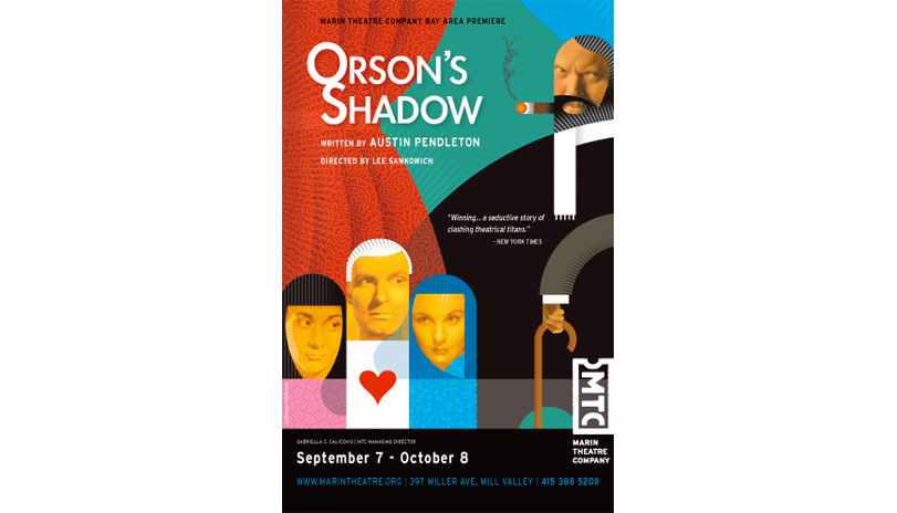 <strong style='color:black; font-style:normal;'>Marin Theatre Company</strong><br /><span style='color:black; font-style:normal;'>Orson's Shadow</span><br />Illustrator: Gordon Studer