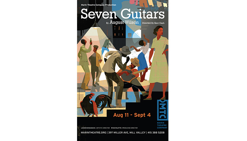 <strong style='color:black; font-style:normal;'>Marin Theatre Company</strong><br /><span style='color:black; font-style:normal;'>Seven Guitars</span><br />Illustrator: Mick Wiggins